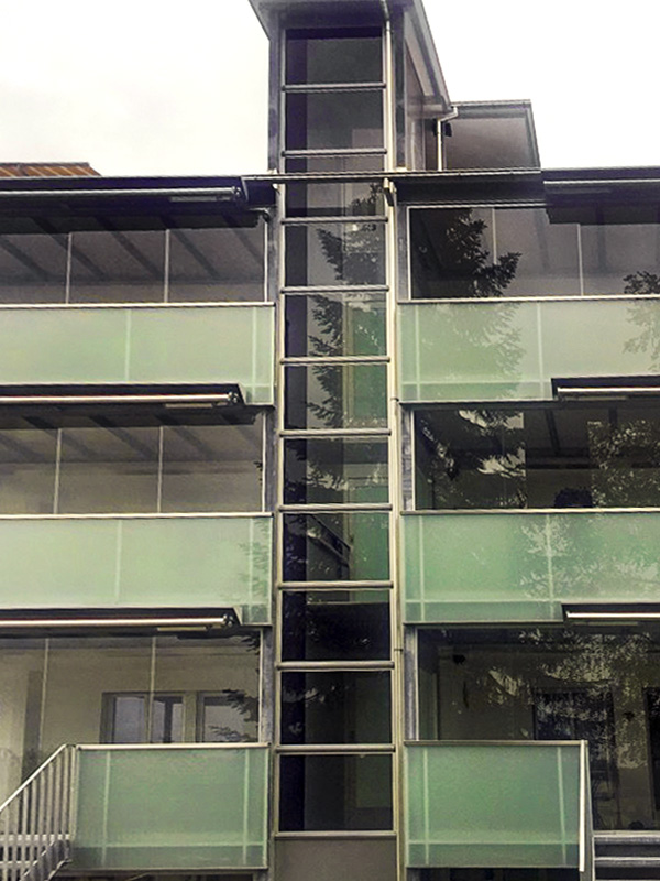 Senkrechtlift für Mehrfamilienhaus MFH Märstetten