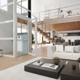Homelift mit Design